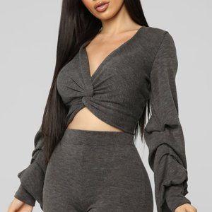 Fashion Nova My Twisted Ways Top & Pant Set